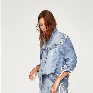 57583e66d58507 Women s Zara Oversized Denim Jacket on Poshmark